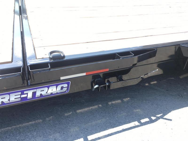 "2018 Sure-Trac 78""x12+4' Tilt Equipment Trailer Scissor Hauler 7800# GVW * OAK DECK"