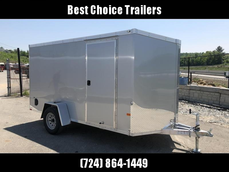 2019 Neo 6x12' NAVF Aluminum Enclosed Cargo Trailer * RAMP DOOR * SILVER