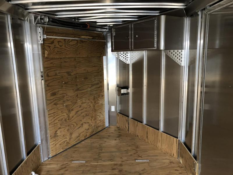 2019 Neo 7x28' Aluminum Enclosed Snowmobile All-Sport Trailer * 4-PLACE SLED/2-PLACE UTV * SILVER * 7' HEIGHT UPGRADE
