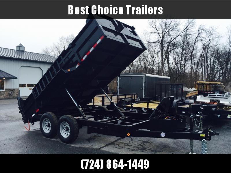 2018 QSA 7x14' Dual Ram Low Profile Dump Trailer 12000# Ramps