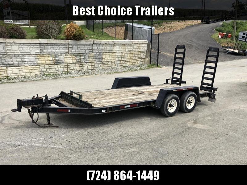 USED 2000 Towmaster 7x18' Equipment Trailer 9990# GVW