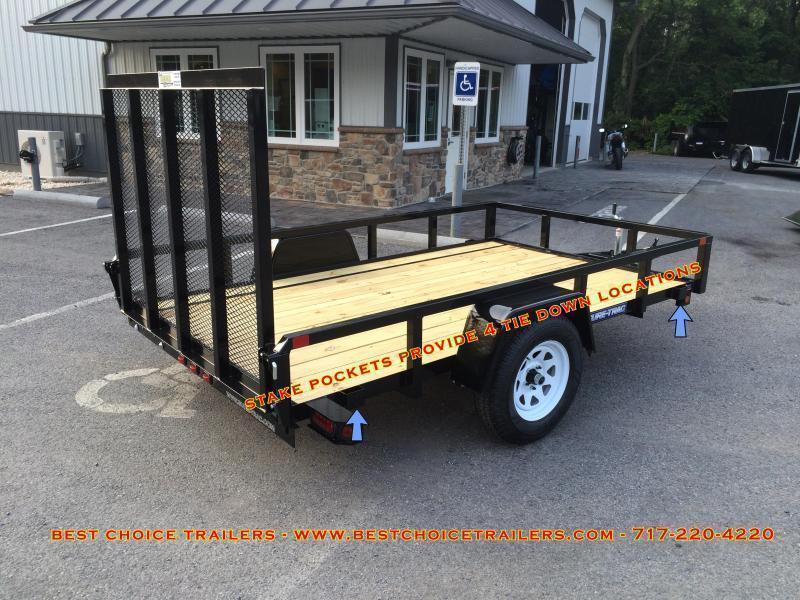 2019 Sure-Trac 6x12' Steel High Side Utility Trailer 2990# GVW