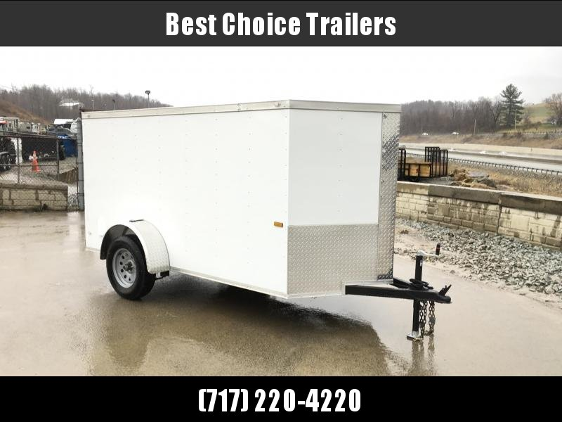 2018 Rock Solid 5x10' Enclosed Cargo Trailer 2990# GVW * RAMP * WHITE