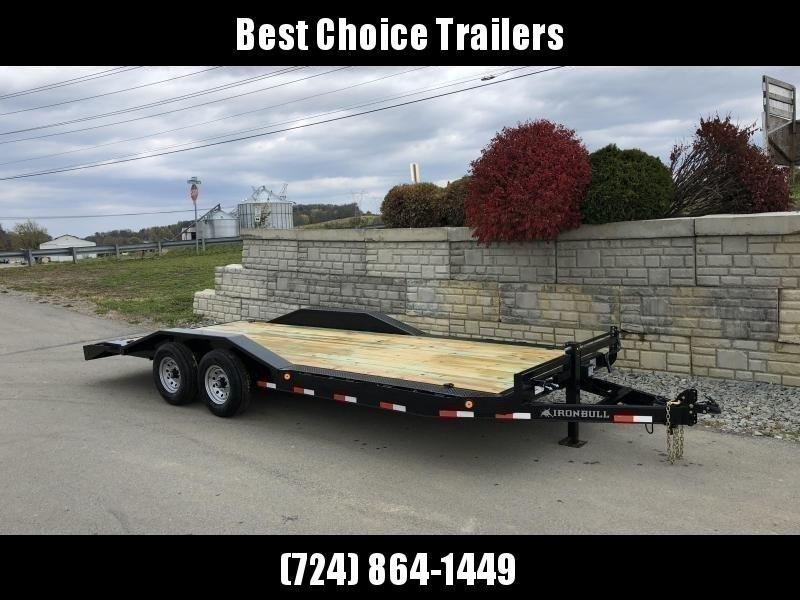"2019 Ironbull 102""x22' Wood Deck Car Trailer 14000# GVW * 102"" DECK * DRIVE OVER FENDERS * BUGGY HAULER"