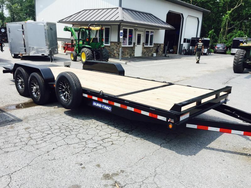 2019 Sure-Trac 7x18+4' Tilt Bed Equipment Trailer 14000# GVW