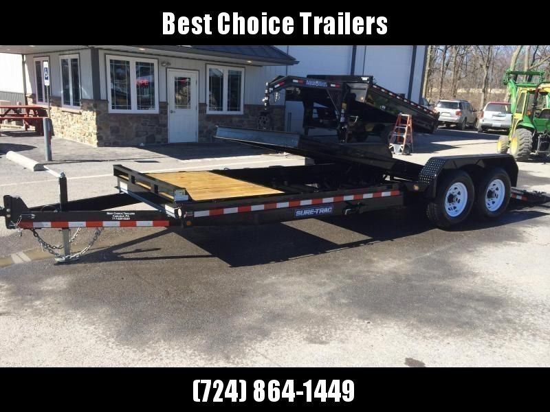 2019 Sure-Trac 7x18+4' Tilt Bed Equipment Trailer 14000# GVW