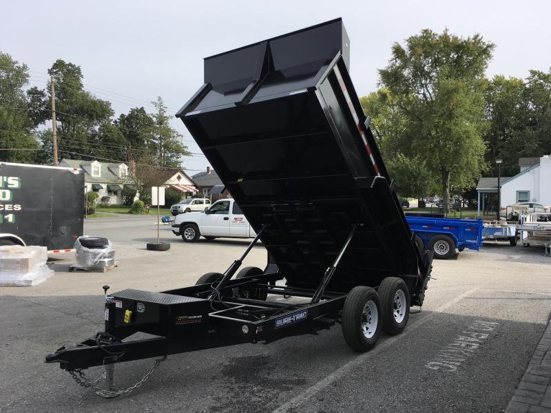 2019 Sure-Trac 7x12' LowPro Dump Trailer 9900# DUAL PISTON - BASE * CLEARANCE - FREE ALUMINUM WHEELS