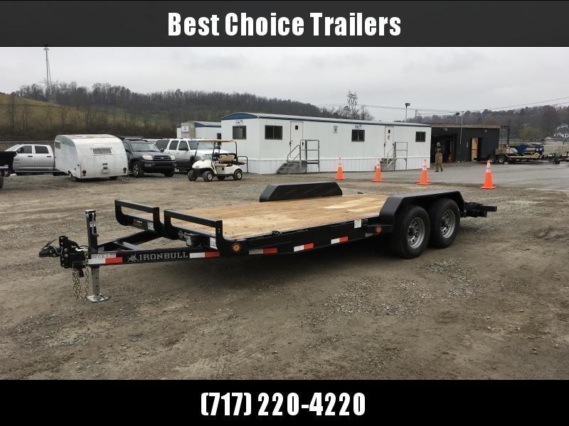 2018 Iron Bull 7x16' Wood Deck Car Trailer 9990# GVW