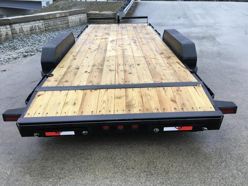 2019 Iron Bull 7x20' Wood Deck Car Trailer 14000# GVW