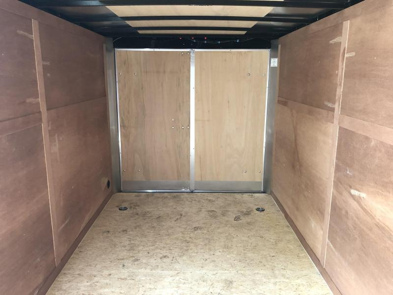 2019 Wells Cargo 7x14' Fastrac DELUXE Enclosed Cargo Trailer 7000# GVW * WHITE * BARN DOORS * V-NOSE