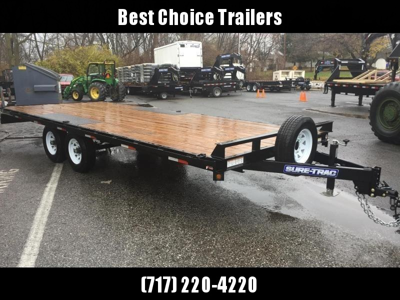 2018 Sure-Trac 102x20' LP Straight Deckover Trailer 9900#  - 8' SLIDE OUT RAMPS