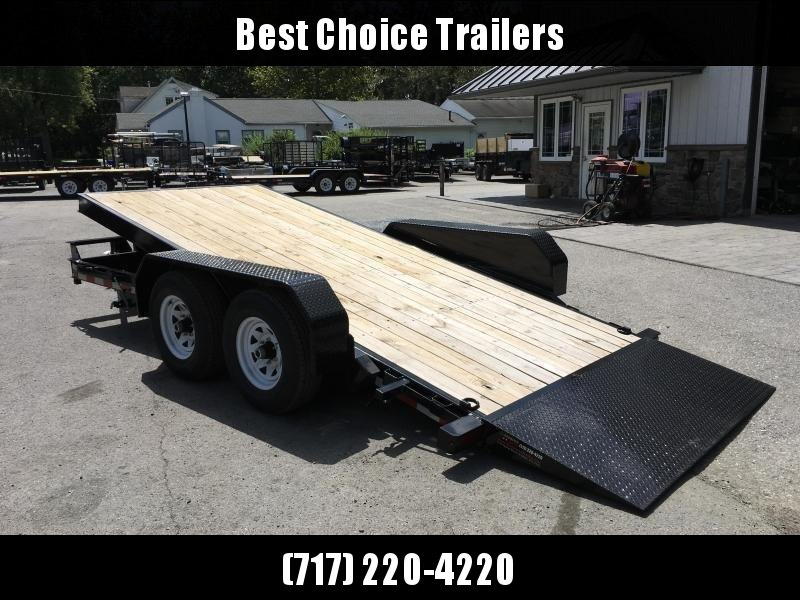 2019 Sure-Trac 7x18 Tilt Bed Equipment Trailer 9900# GVW ADJUSTABLE COUPLER