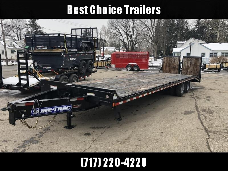 2020 Sure-Trac 102x25+5 22K Pintle Beavertail Deckover Trailer Pierced Frame OAK DECK & RAMPS PAVER TRAILER  * OAK RAMPS/TAIL/DECK * FULL WIDTH RAMPS
