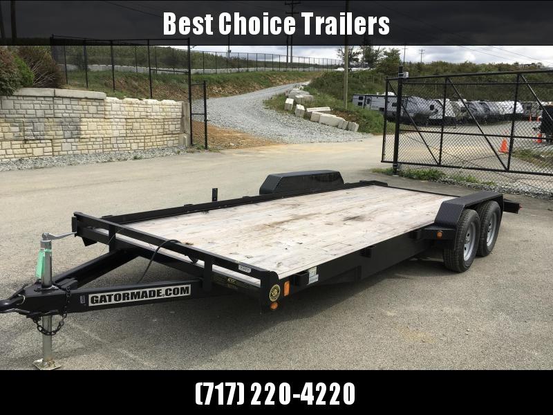 USED 2018 Gatormade 7x18' Car Hauler Trailer 7000# GVW