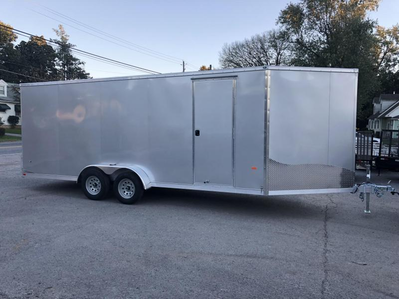 2019 Neo 7x22' Aluminum Enclosed Snowmobile All-Sport Trailer * 3-PLACE SLED/2-PLACE UTV * SILVER * 7' HEIGHT UPGRADE