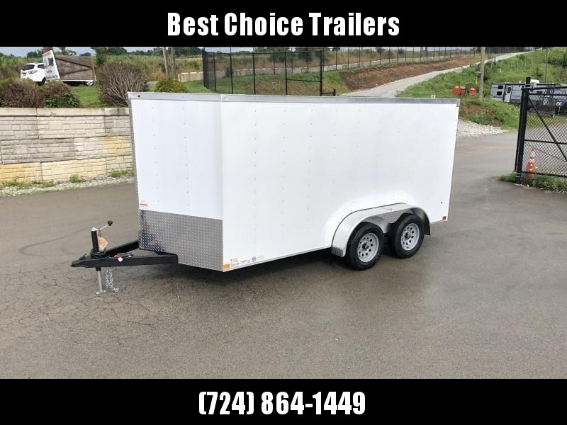 2019 Wells Cargo 7x14' Road Force Enclosed Cargo Trailer 7000# GVW * WHITE * RAMP DOOR * V-NOSE * .030 ALUM EXTERIOR * 1 PC ALUM ROOF * ARMOR GUARD * CLEARANCE