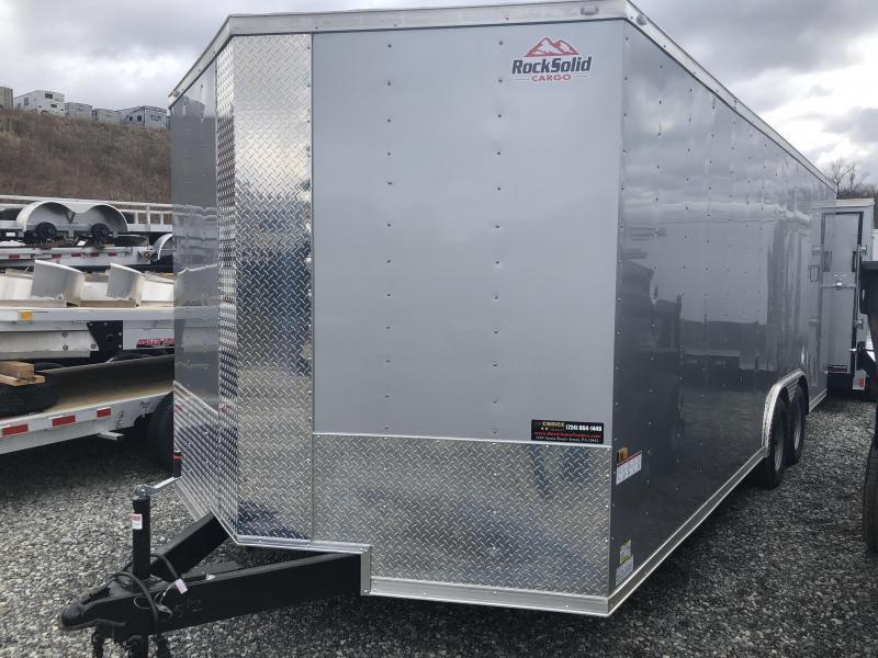 2018 Rock Solid 8.5x20' Enclosed Car Trailer 7000# GVW * BLACK