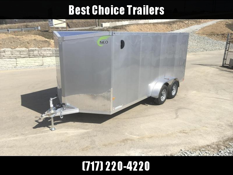 2019 Neo 7x14 NAVF Aluminum Enclosed Cargo Trailer * RAMP DOOR * BLACK * SIDE VENTS in Ashburn, VA