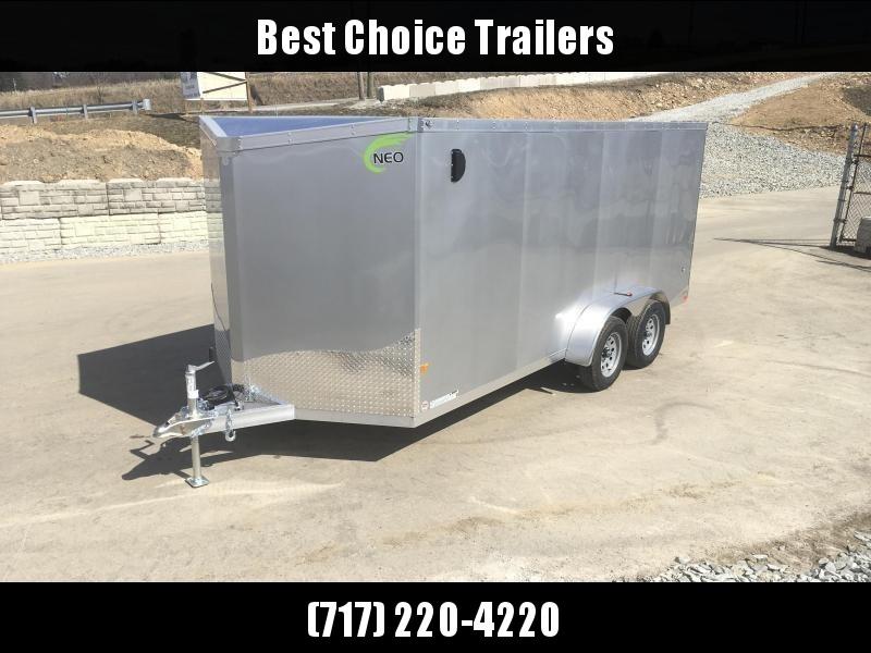 2019 Neo 7x14 NAVF Aluminum Enclosed Cargo Trailer * RAMP DOOR * BLACK * SIDE VENTS