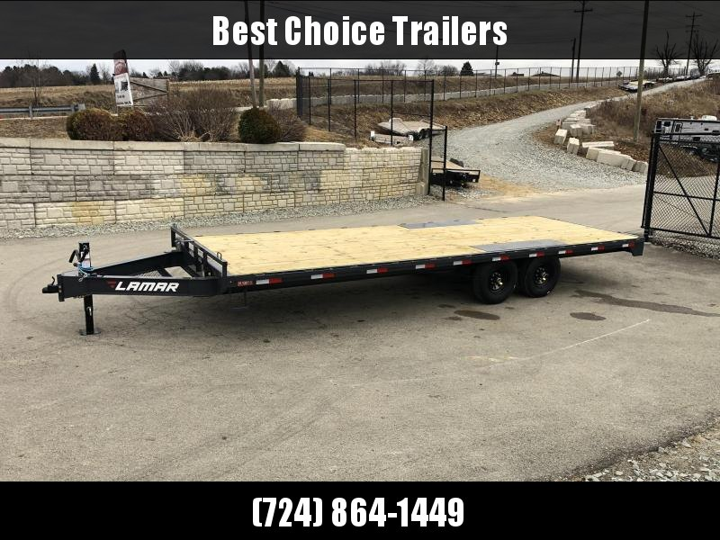 2019 Lamar F8 102x24' Flatbed Deckover Trailer 14000# GVW * CHARCOAL * 8' SLIDE IN RAMPS