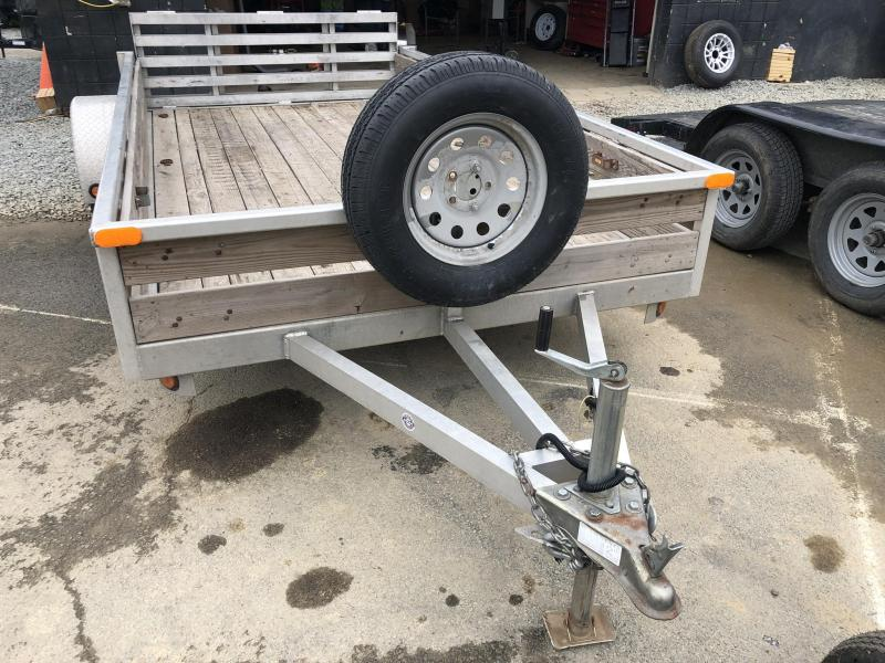 USED 6x12 QSA Aluminum Utility Landscape Trailer 2990# GVW * BI-FOLD GATE * SPARE TIRE * DELUXE MODEL * WOOD SIDES * INTEGRATED FRAME