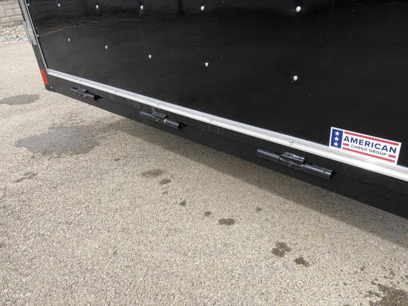 2019 Wells Cargo 7x16' Fastrac Enclosed Cargo Trailer 7000# GVW * SILVER * RAMP DOOR * V-NOSE