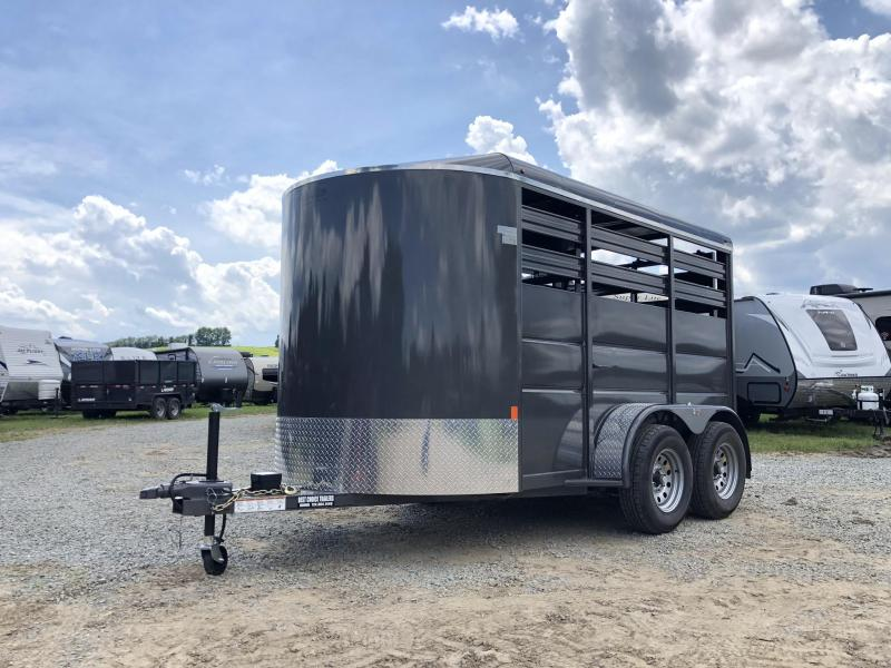 2019 Delta Manufacturing 12' Livestock Trailer * GREY * CENTER DIVIDER * DEXTER'S