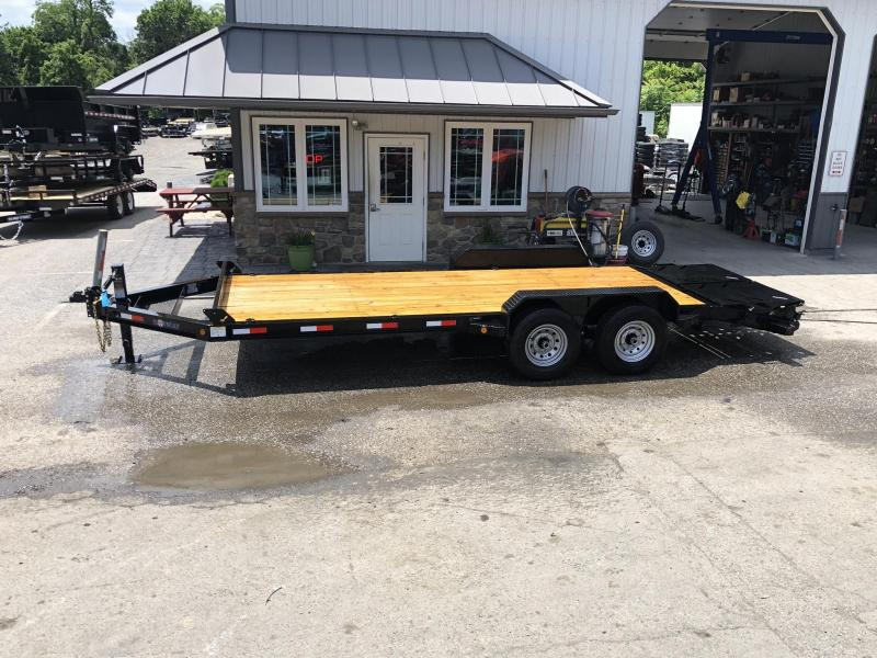 2019 Ironbull 7x20' Equipment Trailer 14000# GVW * FULL WIDTH RAMPS * I-BEAM FRAME * CHAIN TRAY * D-RINGS