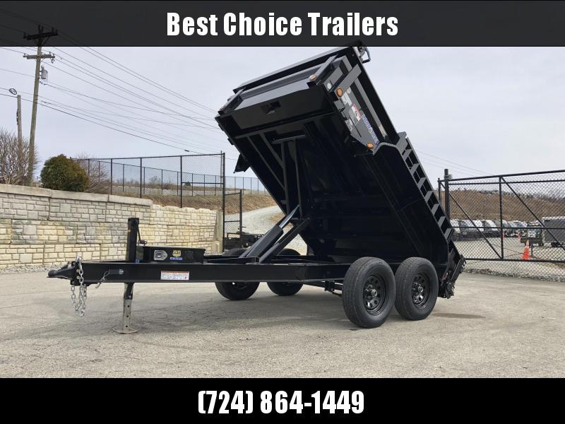 """2019 Load Trail 6x10' Dump Trailer 7000# GVW * DT7210032 * 3-WAY GATE * I-BEAM FRAME * TARP KIT * SCISSOR HOIST * 4"""" TUBE BED FRAME * 110V CHARGER * DEXTER'S * 2-3-2 * POWDER PRIMER"""