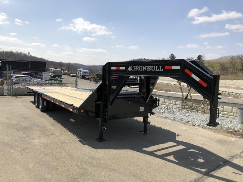2019 Ironbull 102x30' Gooseneck Deckover Flatbed Hydraulic Dovetail 22000# GVW
