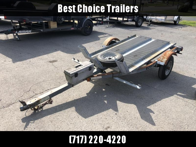 USED Load Rite 3-Place Motorcycle Trailer * GALVANIZED * SPARE TIRE * TOOLBOX