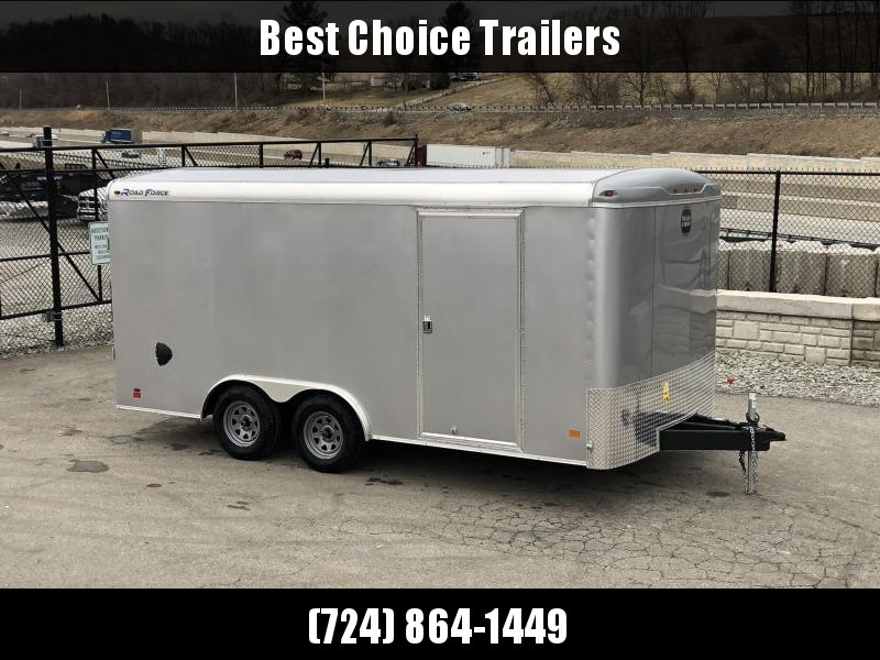 2019 Wells Cargo 8.5x16' Road Force Enclosed Cargo Trailer 7000# GVW * SILVER EXTERIOR * RAMP DOOR