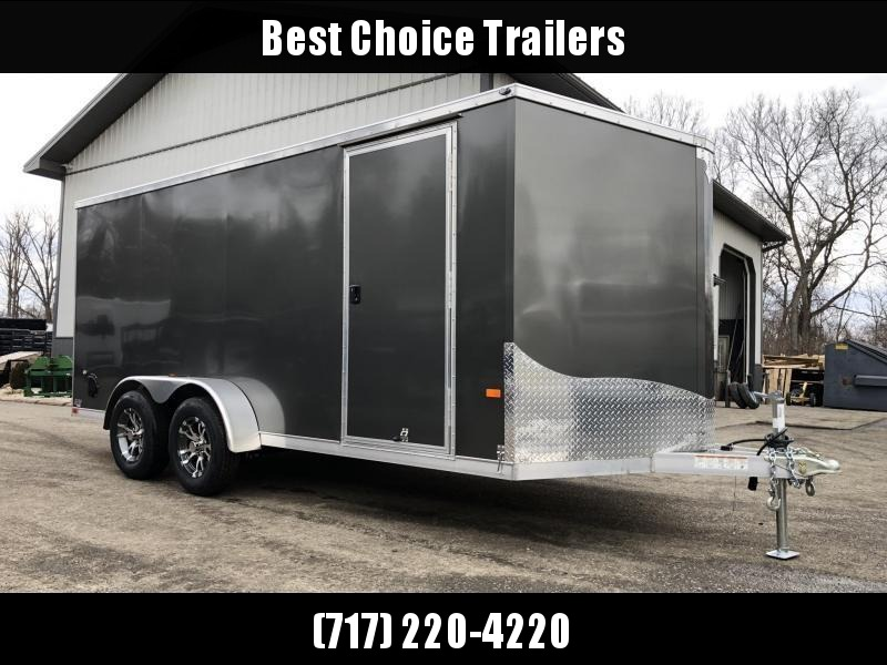 2020 Neo 7x16 NAVF Aluminum Enclosed Cargo Trailer * RAMP DOOR * SIDE VENTS * ALUMINUM WHEELS