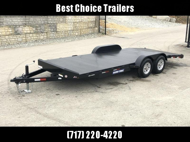 2019 Sure-Trac 7x20' Steel Deck Car Hauler 9900# GVW * 4' BEAVERTAIL - LOW LOAD ANGLE * ALUMINUM WHEELS