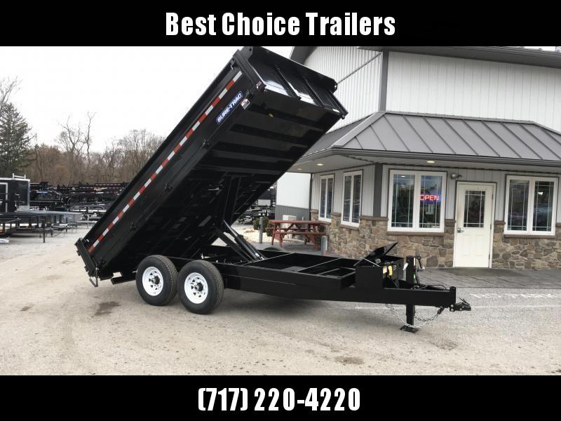 2018 Sure-Trac 8x16' HD Deckover Dump Trailer Fold Down Sides 14000# GVW