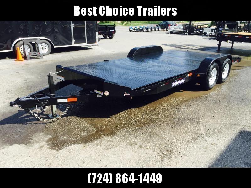 2018 Sure-Trac 7x18 9900# Steel Deck Car Trailer Low Profile/Low Angle DROP LEG JACK * CLEARANCE - FREE ALUMINUM WHEELS