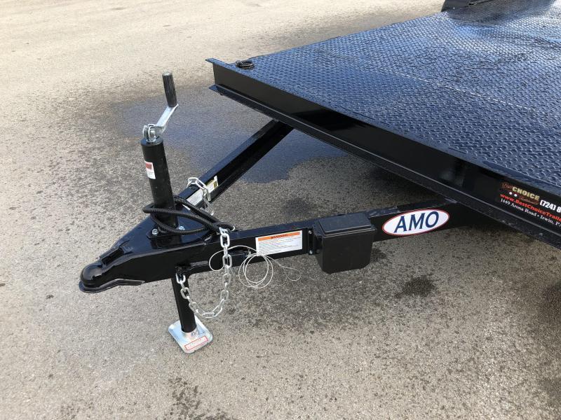 2018 AMO 7x16' Steel Deck Car Trailer 7000# GVW * BLACK FRIDAY SPECIAL