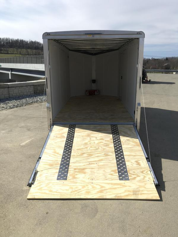 "2019 Neo 7x14 NAMR Aluminum Enclosed Motorcycle Trailer * VINYL WALLS * ALUMINUM WHEELS * +6"" HEIGHT * NUDO FLOOR & RAMP"