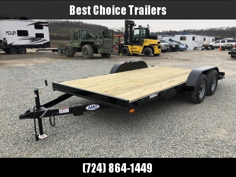 2018 AMO 7x16' Wood Deck Car Trailer 7000# GVW