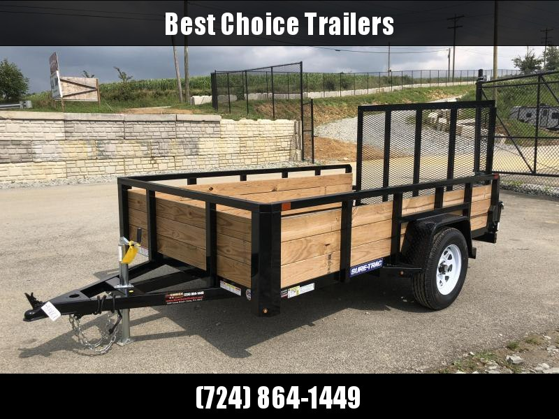 2018 Sure-Trac 6x10' Tube Top 3-Board High Side Utility Trailer 2990# GVW * CLEARANCE