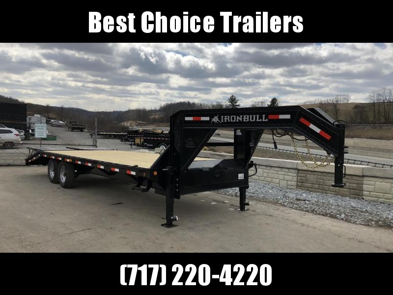 2018 Iron Bull 102x20+5' Gooseneck Beavertail Deckover Trailer 14000# * RAMPAGE RAMPS