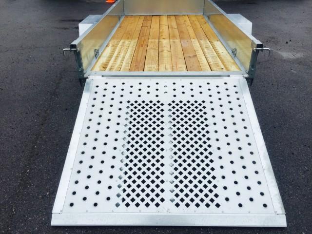 2018 Sure-Trac 5x8' Galvanized High Side Landscape Utility Trailer 2990# GVW * CLEARANCE - FREE ALUMINUM WHEELS