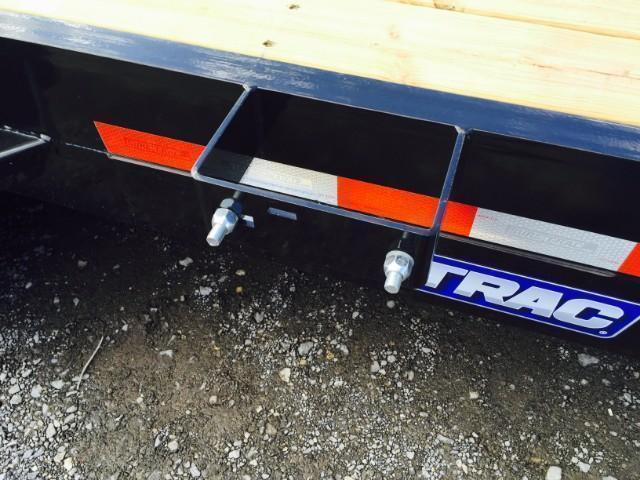 USED 2018 Sure Trac 7x20' Equipment Trailer 14000# GVW * TOOLBOX * SPARE * WOOD SIDES