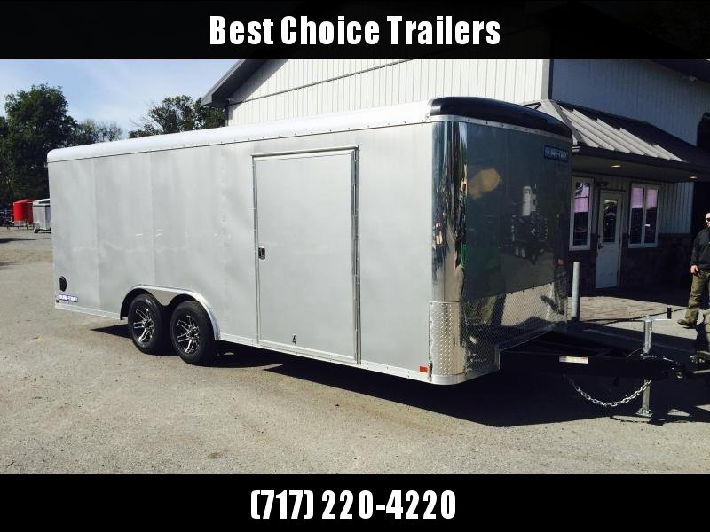2019 Sure-Trac 8.5x24' 9900# STRCH Commercial Enclosed Cargo Trailer * ROUND TOP * RAMP DOOR  * SILVER
