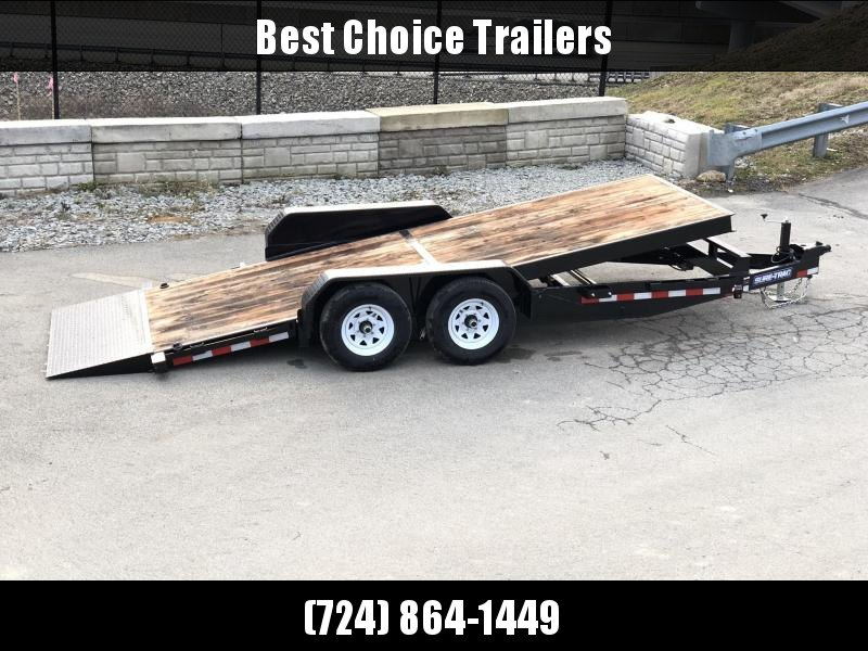 2019 Sure-Trac 7x18 Tilt Bed Equipment Trailer 9900# GVW * OAK DECK