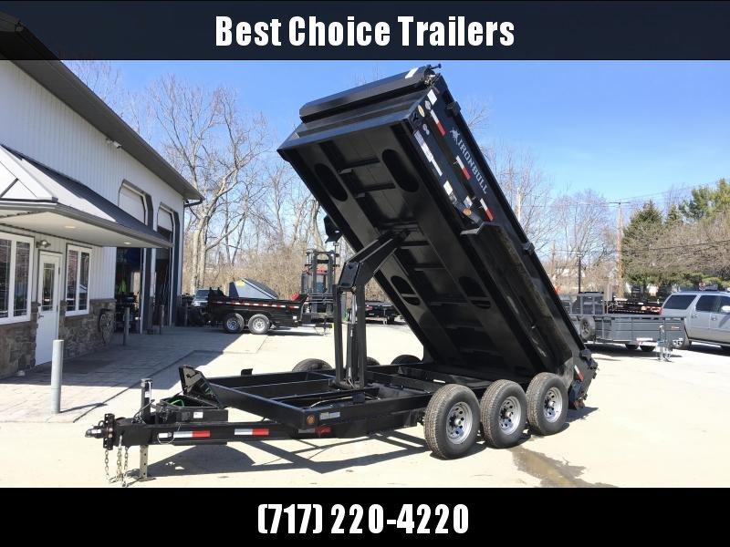 2017 Ironbull 7x16' Low Profile Dump Trailer 21000# GW