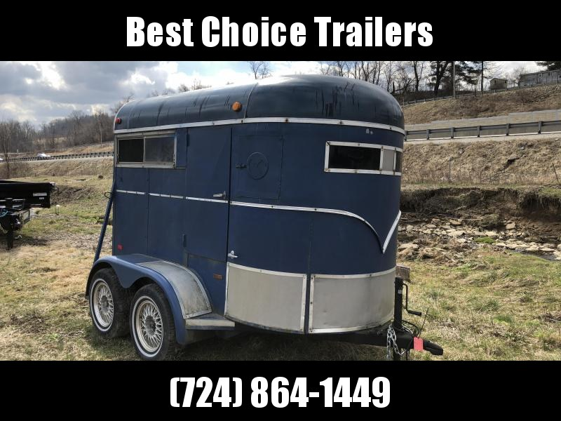 USED 1990 WW 10' Horse Trailer 3000# GVW