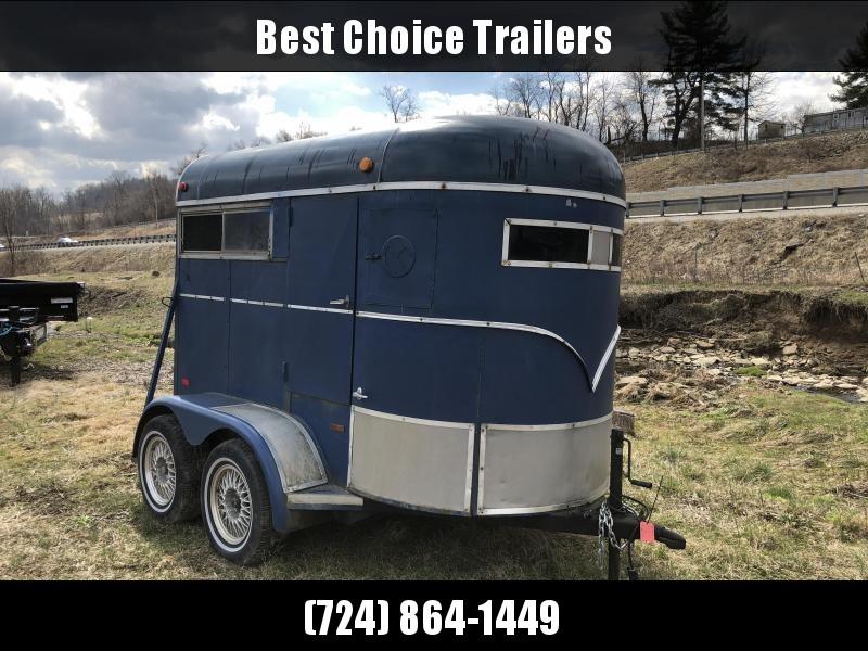USED 1990 WW 10' Horse Trailer 3000# GVW
