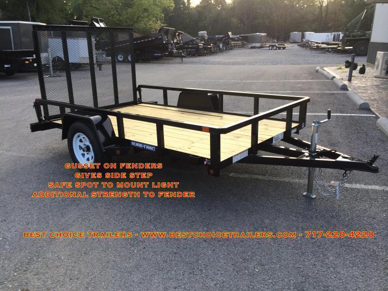 2019 Sure-Trac 6x12' 2990# GVW Angle Iron Landscape Utility Trailer