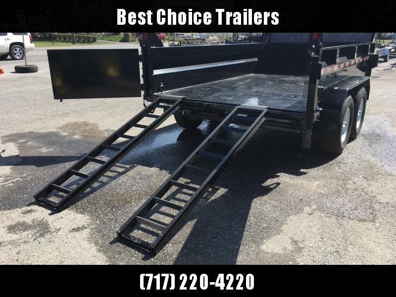 2020 Sure-Trac 7x12' HD LowPro Dump Trailer 12000# GVW * Dual Ram
